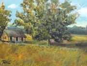 Living To Live Prints - Homestead Print by David Earl Tucker