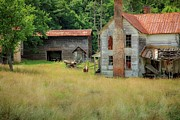 Abandoned North Carolina Home Metal Prints - Homestead Metal Print by Terry Berry