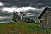 Spokane Framed Prints - Homestead Under Stormy Skies Framed Print by Doug Fredericks