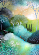 Orbs Paintings - Homeward by Amanda Clark