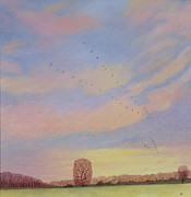 Prairie Sky Paintings - Homeward by Ann Brian