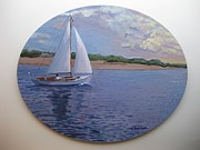 Eastern Point Paintings - Homeward Bound 1 by Stella Sherman