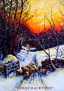 Snow Scene Art - Homeward Bound Christmas card by Andrew Read