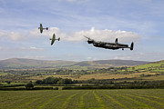 Lancaster Bomber Digital Art - Homeward Bound by James Biggadike