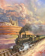 Locomotive Paintings - Homeward Bound by Jeff Brimley