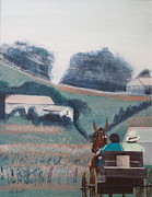 Amish Buggy Paintings - Homeward by Randy Bell