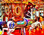 Carousel Horse Framed Prints - Homewood Pony Framed Print by Benjamin Yeager