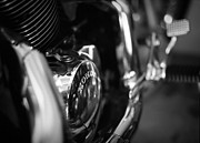 Honda Motorcycles Prints - Honda Chrome Print by Linda Unger
