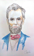 Abe Lincoln Painting Prints - Honest Abe Print by Courtney James