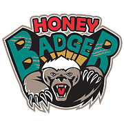 Honey Prints - Honey Badger Mascot Front Print by Aloysius Patrimonio