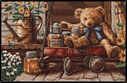 Mccombie Mixed Media - Honey Bear by J McCombie