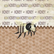 Bee Digital Art - Honey Bee by Debra  Miller