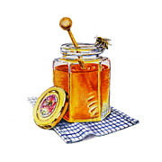 Dinner Paintings - Honey Bee by Irina Sztukowski