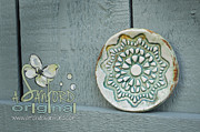 Plate Ceramics Prints - Honeydew This Print by Amanda  Sanford