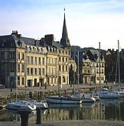 Honfleur Harbour. Calvados. Normandy. France. Europe Print by Bernard Jaubert