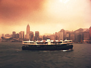 Relaxing Photo Prints - Hong Kong Harbour 01 Print by Pixel  Chimp