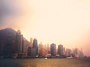 Hong Kong Harbour Sunset Print by Pixel  Chimp