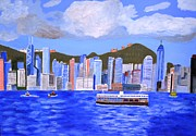 Magdalena Frohnsdorff Framed Prints - Hong Kong Framed Print by Magdalena Frohnsdorff
