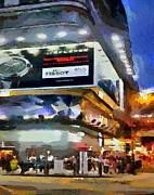 Hong Kong Night Lights 1 Print by Yury Malkov