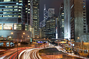 Areal Prints - Hong Kong Rush Hour Print by Lars Ruecker