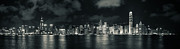 Tst Photo Framed Prints - Hong Kong Skyline 10 Framed Print by Hans Van Kerckhoven