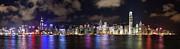 Hong Kong Skyline 2 Print by Hans Van Kerckhoven