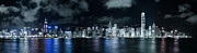 Tst Photo Framed Prints - Hong Kong Skyline 3 Framed Print by Hans Van Kerckhoven