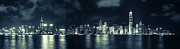 Tst Photo Framed Prints - Hong Kong Skyline 6 Framed Print by Hans Van Kerckhoven