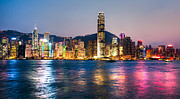 Ifc Prints - Hong Kong skyline Print by Luciano Mortula