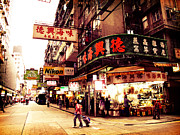 Nathan Road Framed Prints - Hong Kong Street Framed Print by Ernst Cerjak