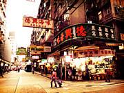 Hong Kong Street Print by Ernst Cerjak