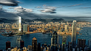 Ifc Prints - Hong Kong Victoria Bay Print by Thierry CHRIN