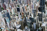 Aerial View Photos - Hong Kongs Density by Lars Ruecker