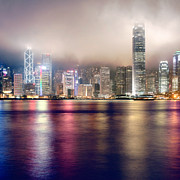 Matsu Framed Prints - HongKong cloudy night Framed Print by Hakai Matsu