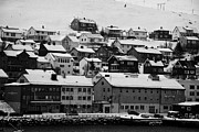 Honningsvag Prints - Honningsvag harbour and traditional wooden houses finnmark norway europe Print by Joe Fox