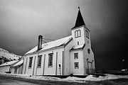 Listed Building Framed Prints - Honningsvag kirke church finnmark norway europe Framed Print by Joe Fox