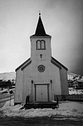 Listed Building Framed Prints - Honningsvag kirke church finnmark norway  Framed Print by Joe Fox