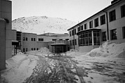 Honningsvag Prints - Honningsvag primary school and library finnmark norway europe Print by Joe Fox