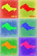 Featured Art - Honolulu Pop Art Map 5 by Irina  March