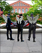 Police Officer Art - Honor Guard Duty by Lydia Warner Miller