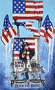 Stars And Stripes Mixed Media Originals - Honor the brave by Paul Banham