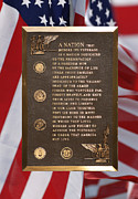 Kia Prints - Honor The Veteran Signage with Flags 2 Panel Composite Digital Art Print by Thomas Woolworth