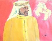 Arab King Posters - Honoring Sheikh Mohammed bin Rashid Al Maktoum Constitutional Monarch of Dubai 1 Poster by Richard W Linford