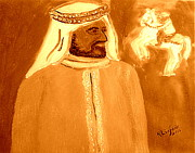 Arab King Posters - Honoring Sheikh Mohammed bin Rashid Al Maktoum Constitutional Monarch of Dubai 2 Poster by Richard W Linford