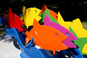 Fish Sculpture Sculptures - Honoring The Onondaga Creek by Peter Michel