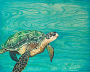 Hawaii Sea Turtle Paintings - Honu by Emily Brantley