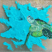 Green Sea Turtle Mixed Media - Honu by Kristen Ashton
