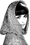 Hooded Woman Print by Andrew Govan Dantzler