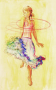 Hula Hoop Prints - Hoop Dance Print by Angelique Buman