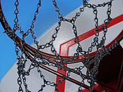 Basketball Abstract Framed Prints - Hoop dreams Framed Print by Andy McAfee